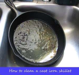 Cleaningacastironskillet