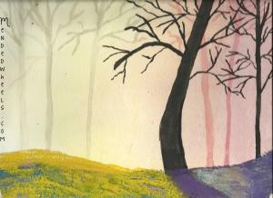 Watercolor Sunset by Jill Stewart